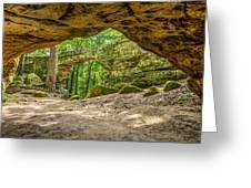 Natural Bridge Cave Greeting Card