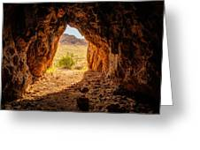 Natural Cave Above The Valley Of Fire Greeting Card