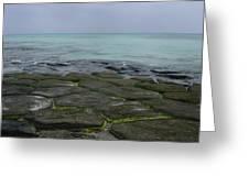Natural Forming Pentagon Rock Formations Of Kumejima Okinawa Japan Greeting Card