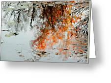 Natural Paint Daubs Greeting Card