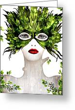 Natural Women Greeting Card by Yosi Cupano