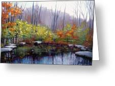 Nature Center Pond At Warner Park In Autumn Greeting Card