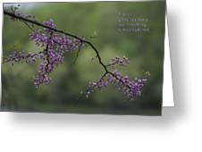 Nature Does Not Hurry Blossoms In Purple Greeting Card