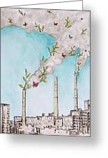 Nature Fights Back Greeting Card