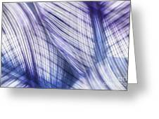 Nature Leaves Abstract In Blue And Purple Greeting Card