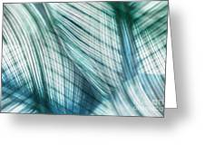 Nature Leaves Abstract In Turquoise And Jade Greeting Card by Natalie Kinnear