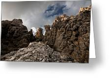 A Stunning Rock Wall Becomes A Wild Nature Sculpture In North Coast Of Minorca Europe Greeting Card
