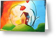 Nature Spills Colour On My House Greeting Card by Nirdesha Munasinghe