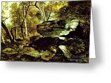 Nature Study Rocks And Trees Greeting Card