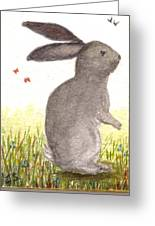 Nature Wild Rabbit Greeting Card
