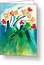 Natures Bouquet Abstract Greeting Card