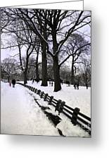 Nature's Canvas On A Wintry Day Greeting Card