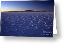 Natures Geometry Salar De Uyuni Greeting Card