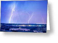 Natures Light Show Over The Boulder Reservoir  Greeting Card by James BO  Insogna