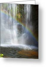 Natures Rainbow Falls Greeting Card