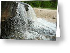 Natures Water Fountain Greeting Card