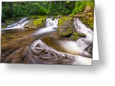 Nature's Water Slide Tilt Shift Greeting Card