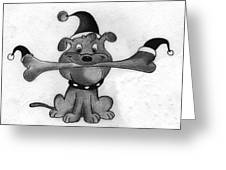 Naughty Dog Greeting Card