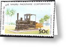 Nauru Island Stamp Greeting Card