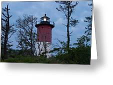 Nauset Lighthouse Amid The Scrub Pines Greeting Card