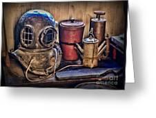 Nautical - Antique Dive Helmet Greeting Card