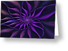 Nautilus Fractalus Moongarden Greeting Card