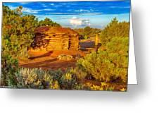 Navajo Hogan Canyon Dechelly Nps Greeting Card