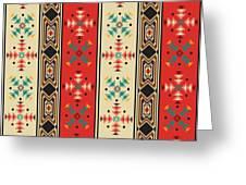 Navajo Style Pattern Greeting Card