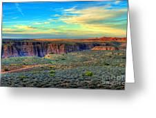 Navajo Sunset Greeting Card
