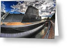 Naval Base At Erie Basin Marina Greeting Card