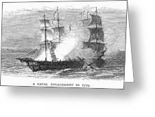 Naval Battle, 1779 Greeting Card