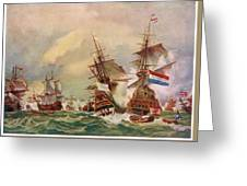 Naval Battle Off Texel A French Fleet Greeting Card