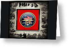 Naval Special Warfare Development Group - D E V G R U - Emblem Over Navy S E A Ls Collage Greeting Card