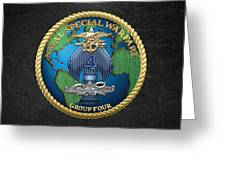 Naval Special Warfare Group Four - N S W G-4 - On Black Greeting Card