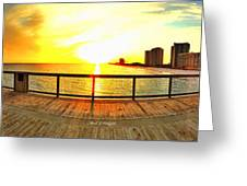 Navarre Beach Iphone Sunset 02 27 2015 Greeting Card