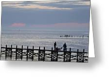 Navarre Beach Sunset Pier 10 Greeting Card