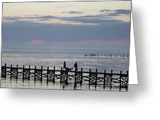 Navarre Beach Sunset Pier 11 Greeting Card