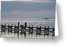 Navarre Beach Sunset Pier 12 Greeting Card