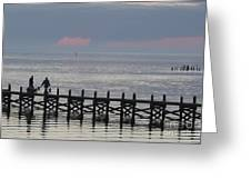 Navarre Beach Sunset Pier 14 Greeting Card