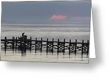Navarre Beach Sunset Pier 16 Greeting Card