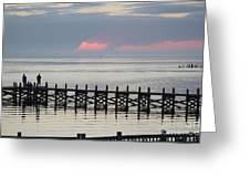 Navarre Beach Sunset Pier 17 Greeting Card
