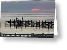 Navarre Beach Sunset Pier 18 Greeting Card