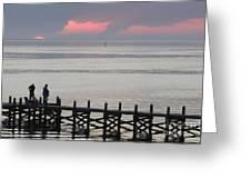 Navarre Beach Sunset Pier 20 Greeting Card