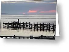 Navarre Beach Sunset Pier 21 Greeting Card