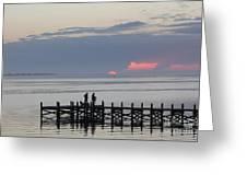 Navarre Beach Sunset Pier 22 Greeting Card