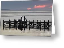 Navarre Beach Sunset Pier 25 Greeting Card