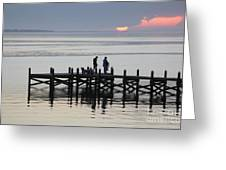 Navarre Beach Sunset Pier 26 Greeting Card