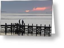 Navarre Beach Sunset Pier 27 Greeting Card