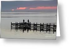 Navarre Beach Sunset Pier 28 Greeting Card