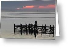 Navarre Beach Sunset Pier 29 Greeting Card